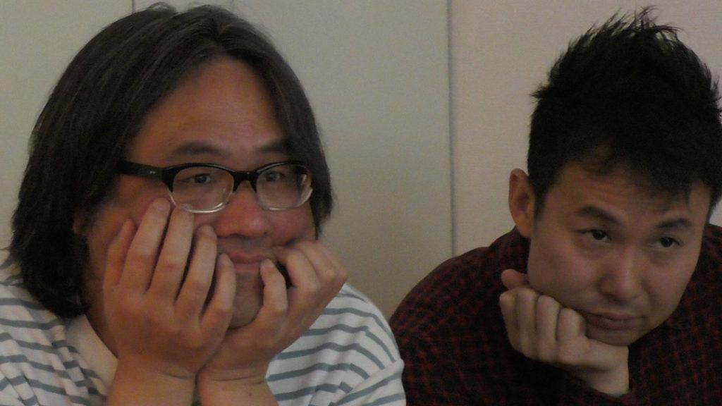 レコーディングエンジニアの花島氏と 音楽コーディネーターの山田氏